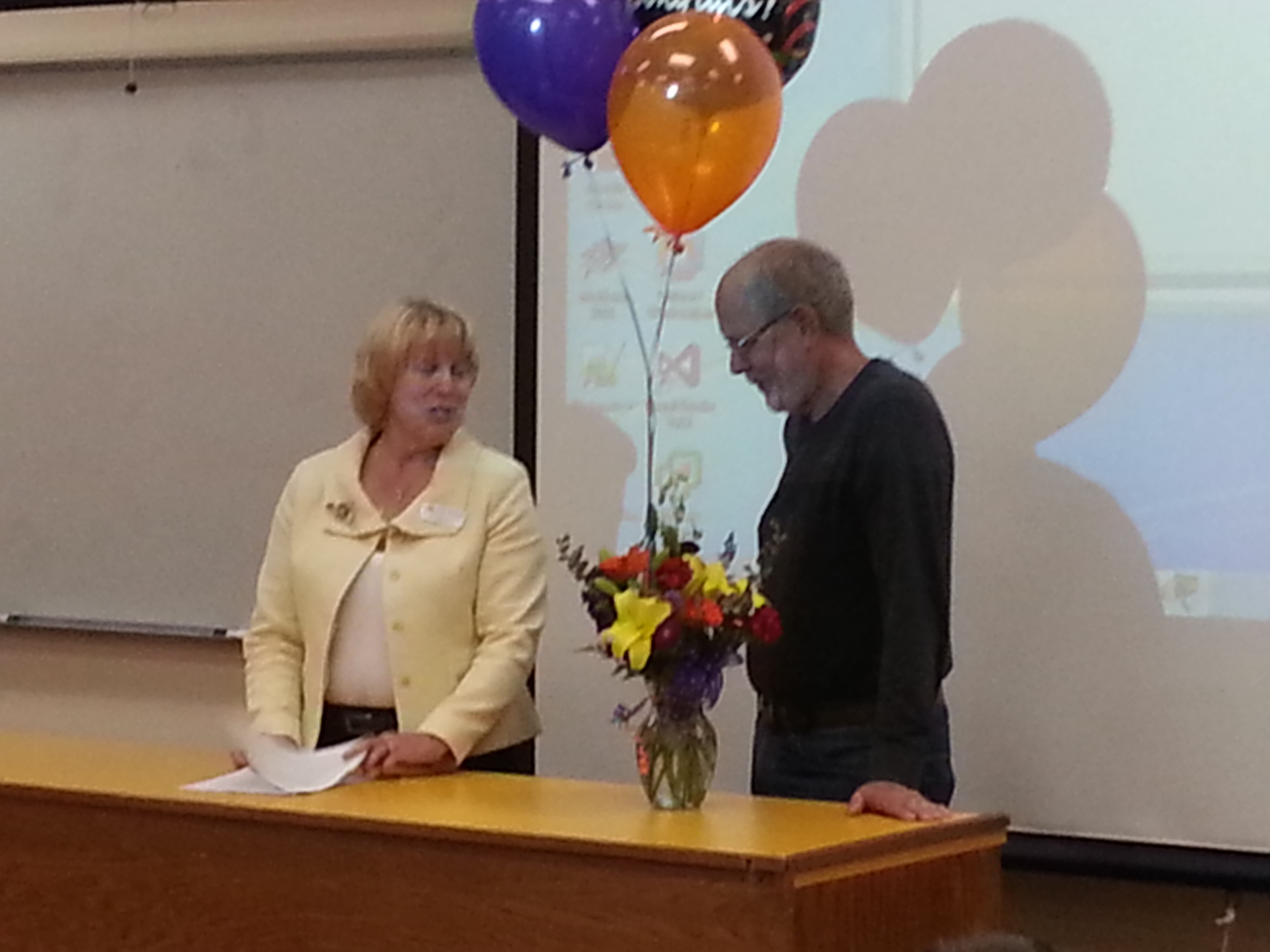 Distinguished Teacher Paul Morris and MHCC President Dr. Debbie Derr